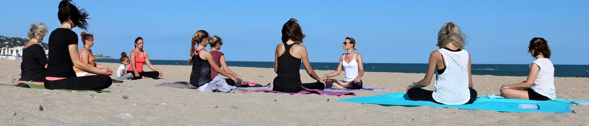 Yoga sur la plage de Carnon