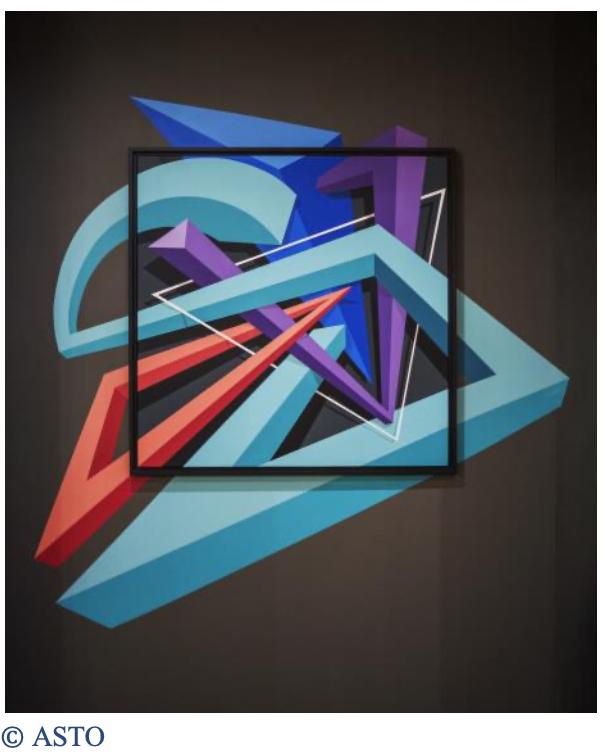 Une fresque de street-art au Polygone