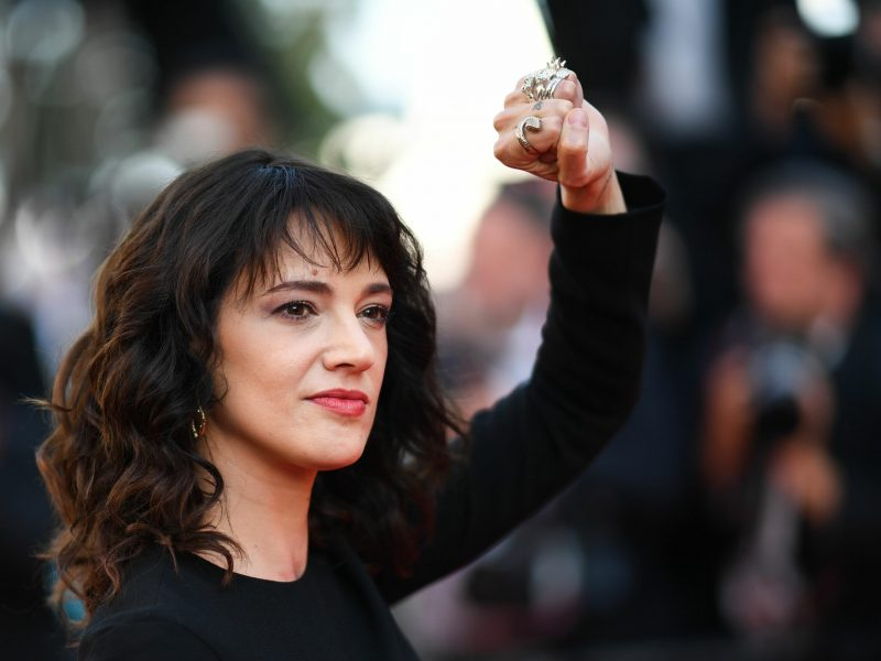 Actress Asia Argento, who has accused Harvey Weinstein of rape, denies that she sexually assaulted a teenage actor at a Marina del Rey hotel in 2013. (Photo by Loic Venance/AFP/Getty Images)