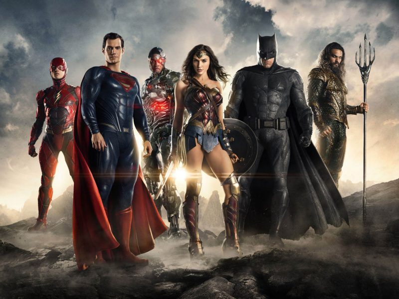 Editorial use only. No book cover usage. Mandatory Credit: Photo by Moviestore/Shutterstock (9224471f) Ezra Miller, Henry Cavill, Ray Fisher, Gal Gadot, Ben Affleck, Jason Momoa Justice League - 2017