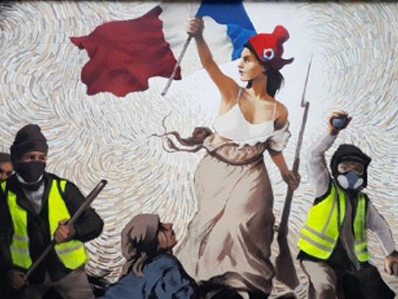Une-fresque-gilets-jaunes-sur-un-mur-de-Paris-inspiree-de-Delacroix